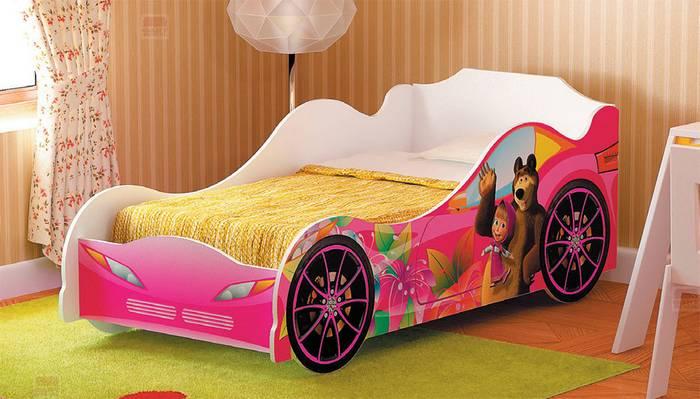 Кровать детская №2 Омега-12 Маша и Медведь