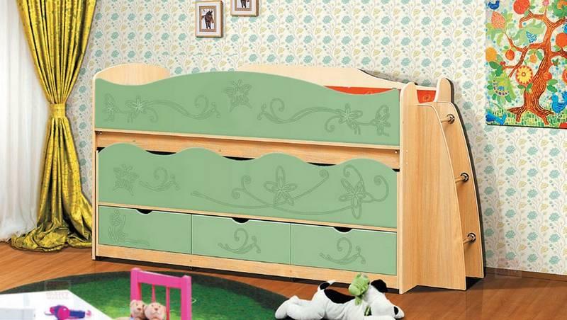 Уголок школьника Омега 10 МДФ - кровать выкатная
