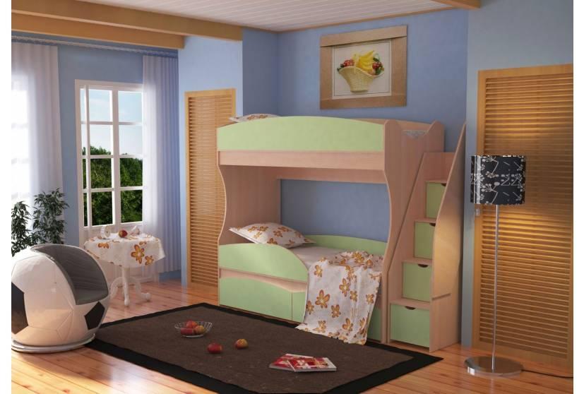 Двухъярусная кровать Омега 15 ЛДСП