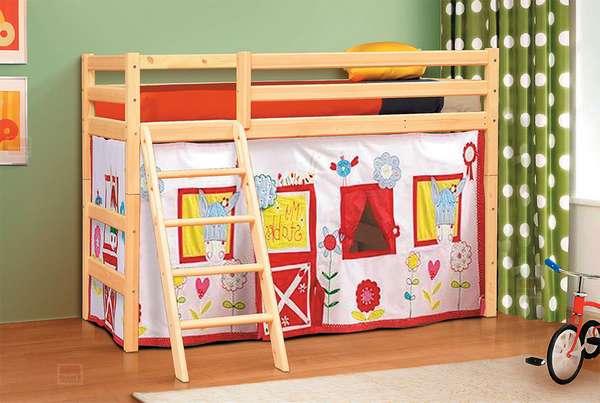 Кровать из массива Омега 14 вариант №6