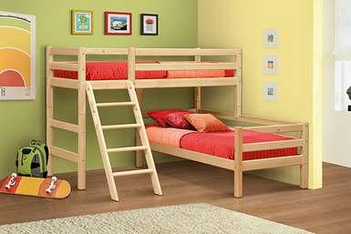 Омега-14 кровать угловая из массива вариант №8