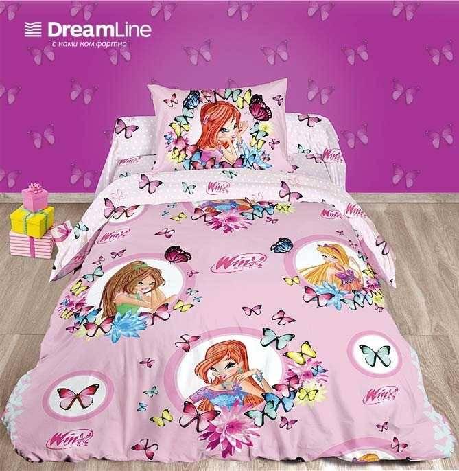 0287625b0471 Постельное белье Dreamline для детей Поплин (Winx)