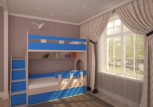 двухъярусная кровать юниор 1