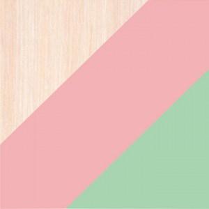 Млеч Дуб/Розовый/Салатовая Шагрень