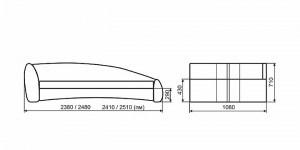 Габаритные размеры Формула 1900