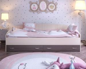 кровать с выкатными ящиками ярофф