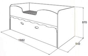 Габариты кровати Омега-11